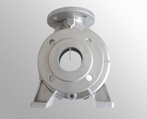 China Precision investment casting carbon steel  pump body , lost wax metal casting supplier