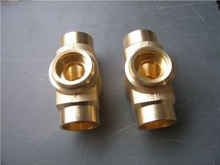 China Lost wax investment casting process copper tube joint normal polish supplier