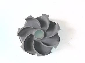 China Turbine impeller 450-10 ductile / grey iron casting parts heat treatment supplier
