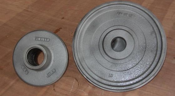 China Wheel carbon steel sand casting parts zinc plating by cut and grind gate factory